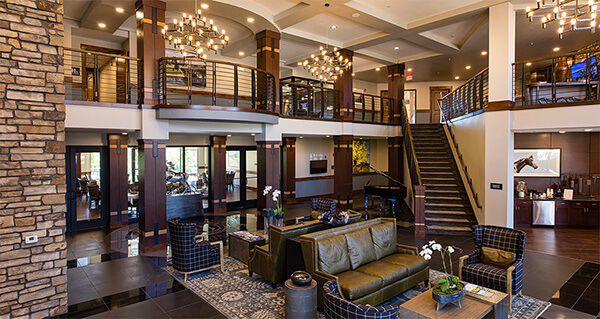 interior lobby fairways of iron horse retirement community