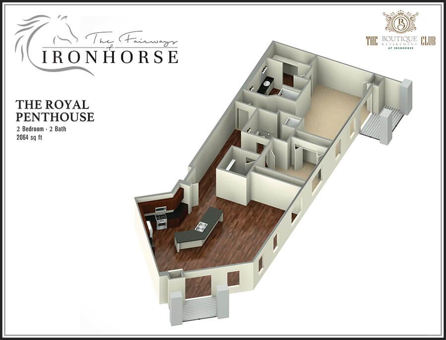 royal penthouse 3d floor plan