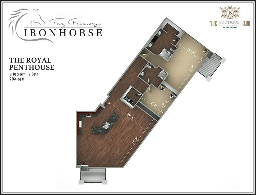 royal penthouse floor plan