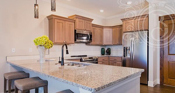 senior living floor plans kitchen