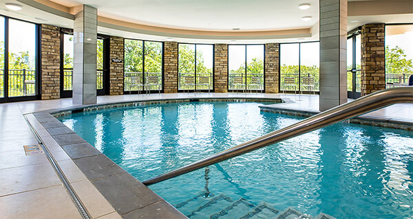 swimming pool amenities seniors aerobics