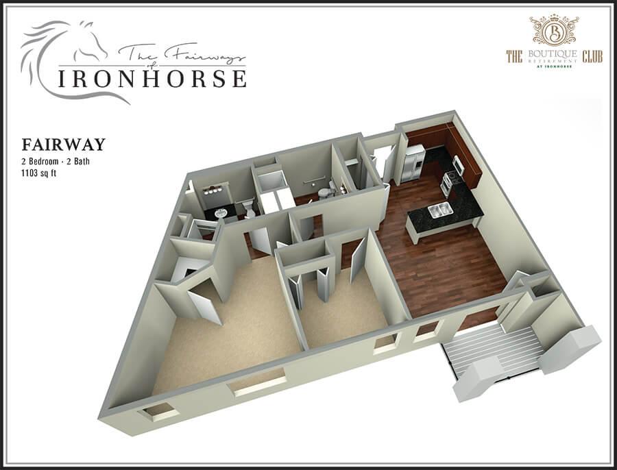 the fairway retirement suite 3d floor plan