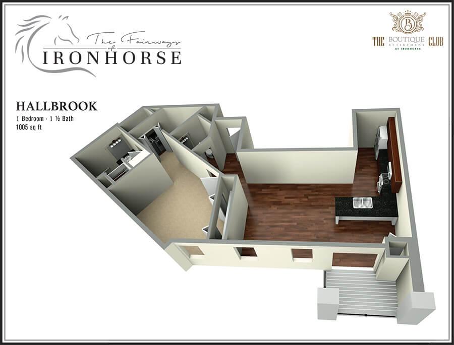 the hallbrook suite 3d floor plan