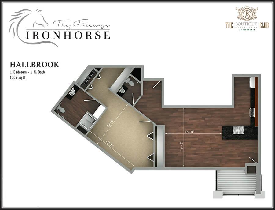 the hallbrook suite floor plan
