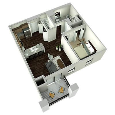 the plaza 3d floor plan