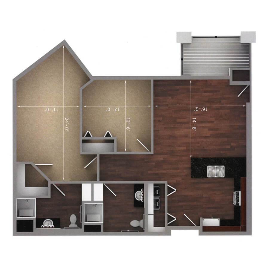 brookside floor plan 2d