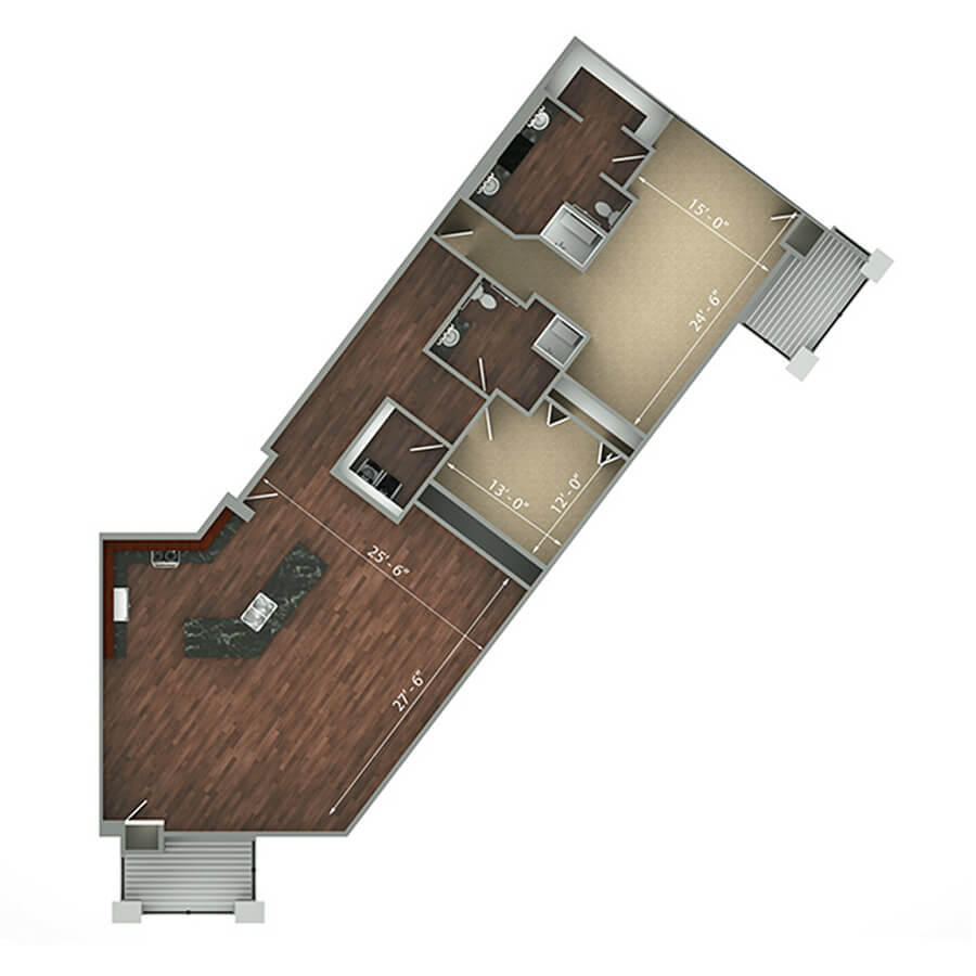 penthouse floor plan 2d