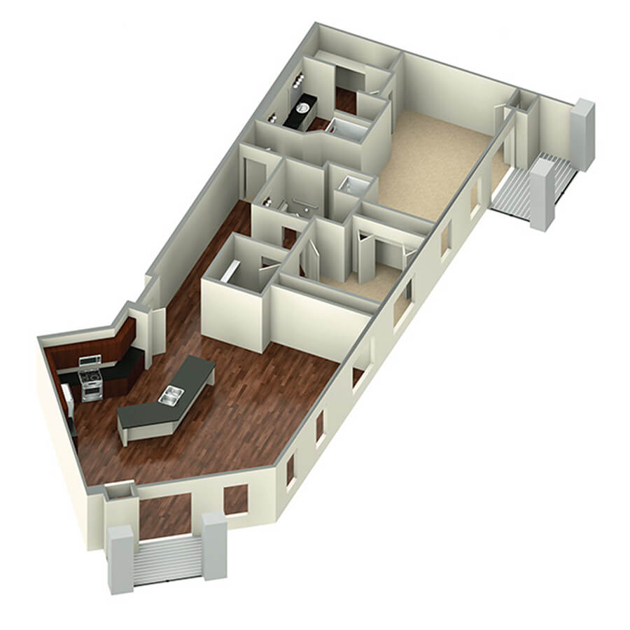 penthouse floor plan 3d
