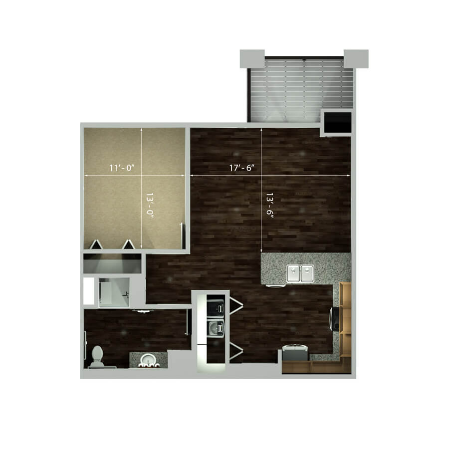 plaza studio floor plan 2d